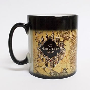 Harry Potter Marauders Map Magic Color Changing Coffee Mug