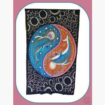 "Dolphin ""Yin Yang"" Tapestry"