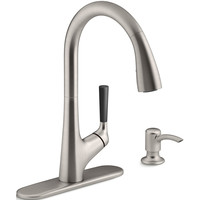 Shop KOHLER Malleco Vibrant Stainless 1-Handle Pull-Down Kitchen Faucet at Lowes.com