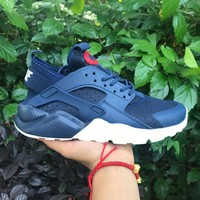 Sale Nike Air Huarache 4 Rainbow Ultra Breathe Men Women Hurache Blue Running Sport Casual Shoes Sneakers - 107-1