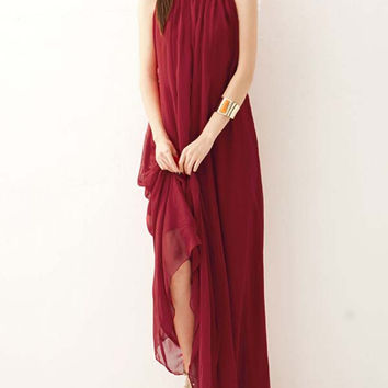 Summer Chiffon Maxi Dress