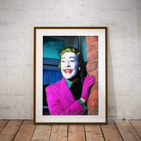The Joker Cesar Romero Batman Dc Comics Pop Culture Wall Art Print