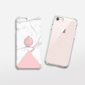 Marble Print iPhone 6 Case Marble Phone Ring Rose Gold TOUGH iPhone 8 Case Marble Gift for Her Samsung Galaxy S6 Case iPhone 7 Case Marble
