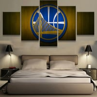 Golden State Warriors Logo Wall Artwork 5 Piece