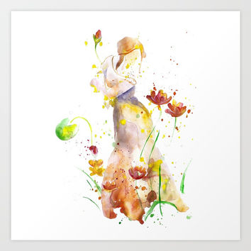 Woman's Abstract - Fall Art Print by MIKART