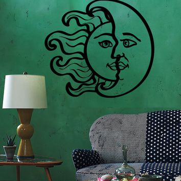 Wall Vinyl Sun Moon Magic Decal For Bedroom Mural Vinyl Decal Unique Gift (z3376)