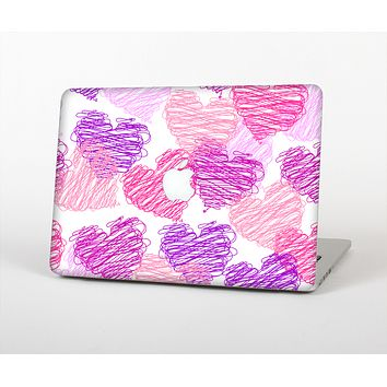 The Loopy Pink and Purple Hearts Skin Set for the Apple MacBook Air 13""
