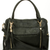Tasseled Treasure Black Tote by Urban Expressions