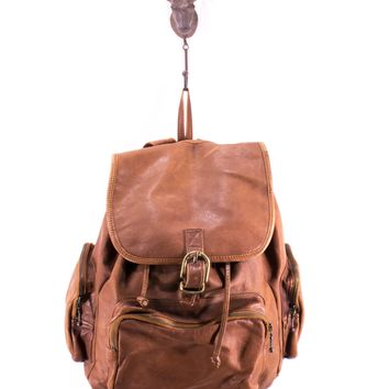 Leather Backpack LARGE Medium Brown Vintage School Bag Office Travel Laptop Bag Unisex Weekender Pack