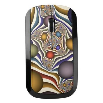 Flying Up, Colorful, Modern, Abstract Fractal Art Wireless Mouse