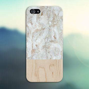 Tan x White Marble Swirl x Light Wood Design Phone Case for iPhone 6 6 Plus iPhone 5 5s 5c 4 4s Samsung Galaxy s6 s5 s4 & s3 and Note 5 4 3