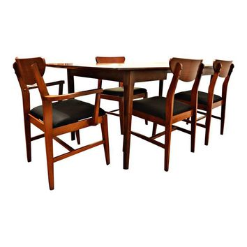 Pre-owned Mid Century Danish Style Dining Set - Set of 5