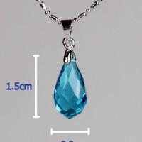 Sword Art Online SAO Kirito & Asuna's Yui Cosplay Crystal Necklace Chain Pendant:Amazon:Toys & Games