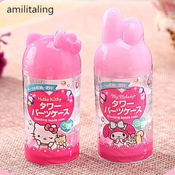 New Hello Kitty Travel MakeUp Skin Care Lotion Empty Case 3 spacing yey-112