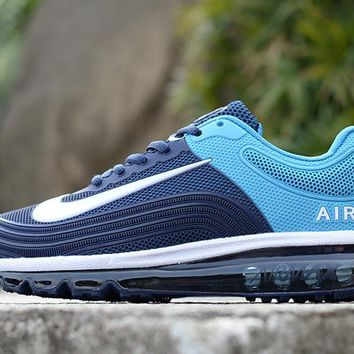 DCCK N726 Nike Air Max 2018 Fashion Breathable Cushion Running Shoes Dark Blue