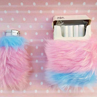 Fuzzy Pink Cigarette Case, Girly Lighters, Furry Cute Lighter Cover, Pastel Grunge Bic Lighter Case, Pastel Goth Kawaii Smoking, Gift Smoker
