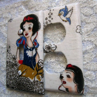 Light Switch Cover - Light Switch Plate Outlet Cover Set of Two in Snow White