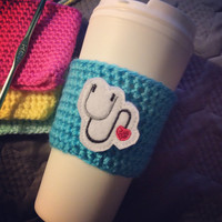 Crochet Coffee Cozy,Stethoscope Cozy,Starbucks Coffee Sleeve,Travel Drink Cup Holder, Coffee Cozy, Crochet Cozy,Coffee Gifts