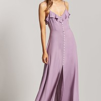 Flowy Button-Up Maxi Dress - Women - Dresses - 2000223891 - Forever 21 Canada English