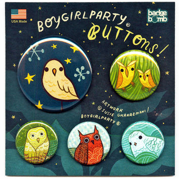 Owl Button Pack