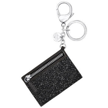 Swarovski Black Crystals GLAM ROCK BAG Charm Keychain #5270965