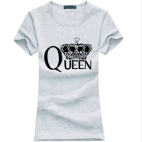 Queen Letters print T-shirt