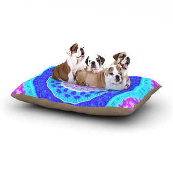 "Iris Lehnhardt ""Summer Colors"" Pink Blue Dog Bed"