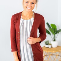 *New Colors* Perfectly Snapped 3/4 Sleeve Cardigan