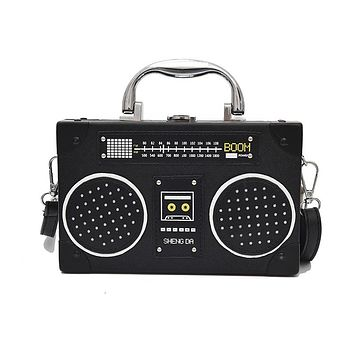 Retro Radio Boom Box Purse