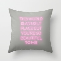 You're So Beautiful Throw Pillow by Nicole Davis