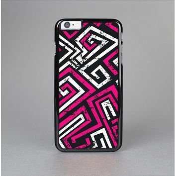 The Pink & White Abstract Maze Pattern Skin-Sert Case for the Apple iPhone 6