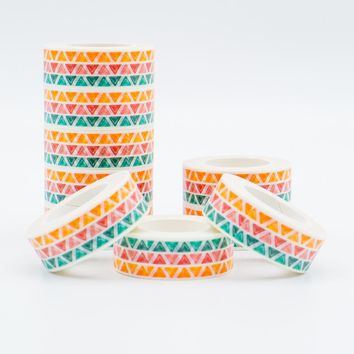 Mixed Color Triangular Washi Tape Set 2017 New Models Japanese Pastel Pattern Decorative Adhesive Tape 1PCS/Lot