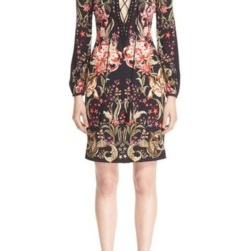 Roberto Cavalli 'Galaxy Garden' Crystal Embellished Print Jersey Dress | Nordstrom