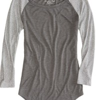 AEO Women's Metallic Baseball T-shirt