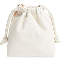 Clare V. Leather Drawstring Wristlet Pouch | Nordstrom