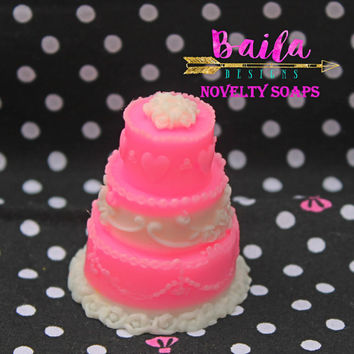 wedding soap, wedding cake favor, wedding favors, unique wedding favors,wedding favors with tags, choose color, decorative soap,novelty soap