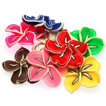 High quality handmade polymer clay flower,20mm fimo flower,assorted  flower beads for jewelry supplies,for fimo bead
