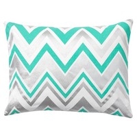 Shimmer Zig Zag Pillow Cover, 12X16, Pool