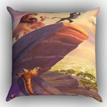 Disney Paintings Art Lion King Z0073 Zippered Pillows  Covers 16x16, 18x18, 20x20 Inches