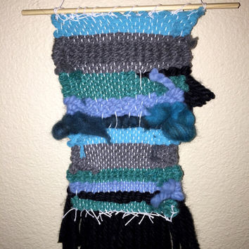 Funky Blue Hand Woven Wall hanging