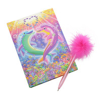 Lisa Frank Dolphin Heart Journal Set