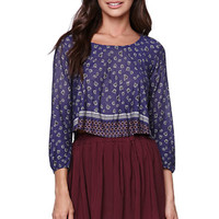 LA Hearts Printed Peasant Top at PacSun.com