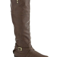 Ask Me Equestrian Boot in Taupe | Mod Retro Vintage Boots | ModCloth.com