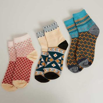 FREE PEOPLE PARADISE COVE THREE PACK SOCKS