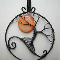 MADE TO ORDER: Nightmare Before Christmas Themed Tree of Life Pendant