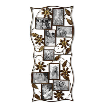 Decorative Bronze-Color Iron Wall Hanging Collage Picture Photo Frame