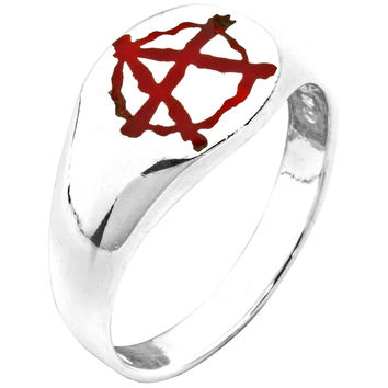 Anarchy Sterling Silver Ring