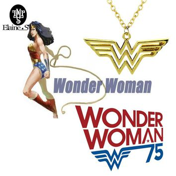 Hot movie! Wonder woman choker Necklace 5 styles superhero series chain Necklaces Pendants for women men Jewelry free shipping