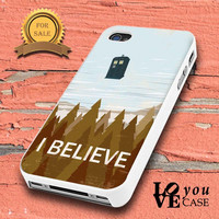 I BELIEVE Tardis Doctor Who for iphone, ipod, samsung galaxy, HTC and Nexus Case