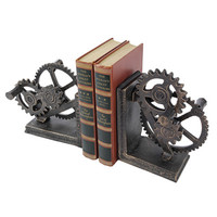 Design Toscano Industrial Gear Sculptural Iron Book Ends & Reviews | Wayfair